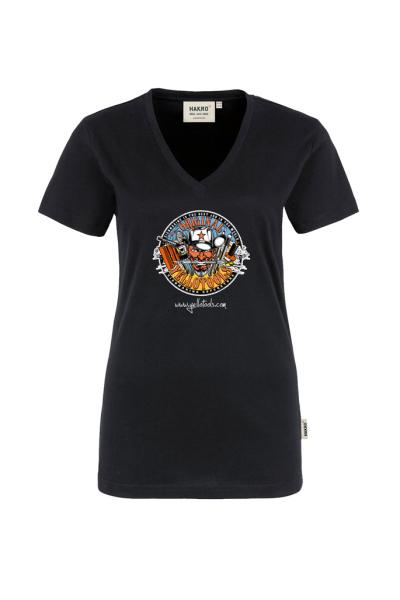 Yellotools Damen T-Shirt mit Motiv Devil Totale vorn